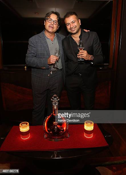 Pierre Halimi Lacharlotte and Kamal Hotchandani attend a Collectors dinner with a special presentation by FP Journe to kick off Miami International...