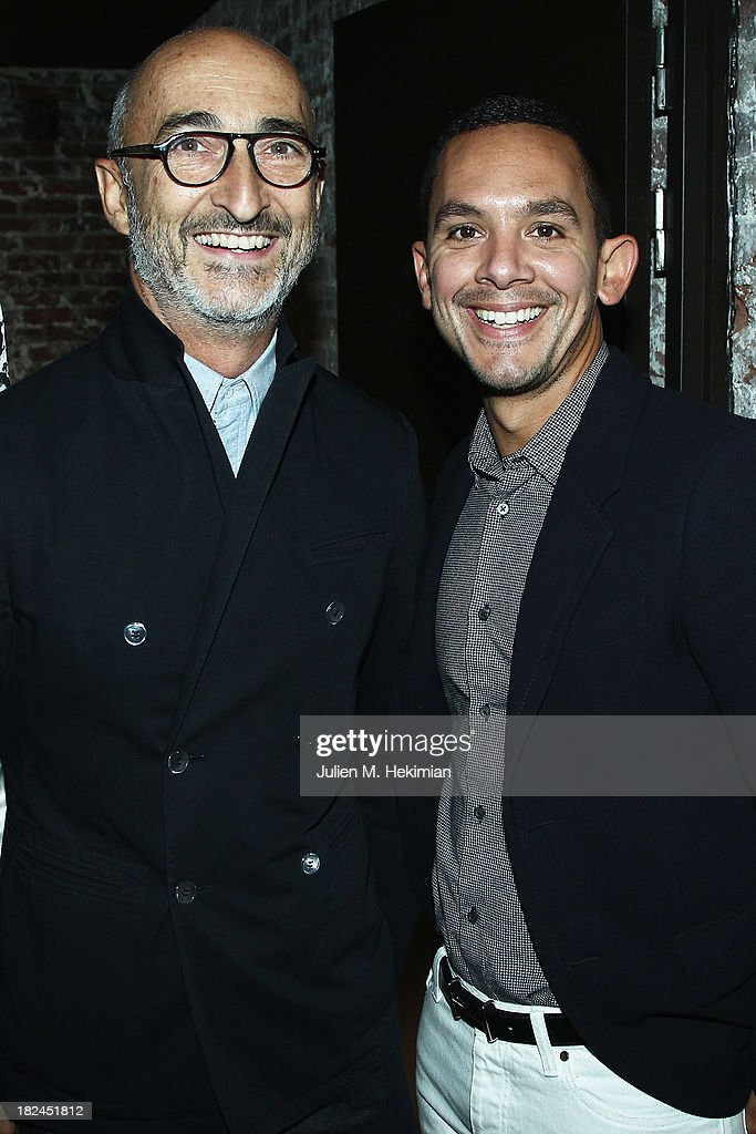 Pierre Hardy and Christopher Turnier attend the Glamour dinner for Patrick Demarchelier as part of the Paris Fashion Week Womenswear Spring/Summer 2014 at Monsieur Bleu restaurant on September 29, 2013 in Paris, France.
