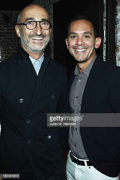 Pierre Hardy and Christopher Turnier attend the Glamour dinner for Patrick Demarchelier as part of the Paris Fashion Week Womenswear Spring/Summer...