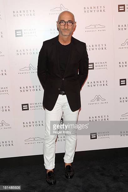 Pierre Hardy attends Barneys New York Cocktail Party Benefiting Americans For Marriage Equality Program at Barneys New York on September 7 2012 in...