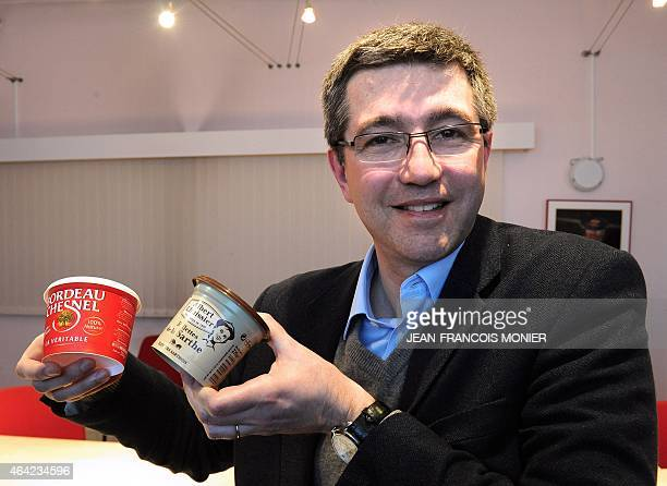 Pierre Hebert French the general manager of Luissier Bordeau Chesnel 'Rillettes' plant is pictured in his offices at the factory in Champagne near Le...
