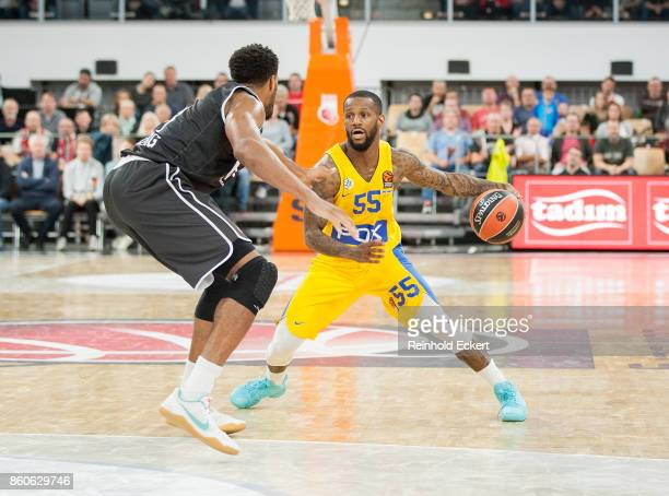Pierre Jackson #55 of Maccabi Fox Tel Aviv in action during the 2017/2018 Turkish Airlines EuroLeague Regular Season Round 1 game between Brose...