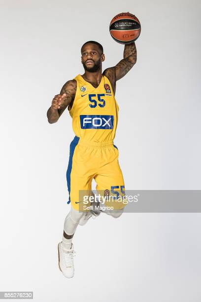 Pierre Jackson #55 poses during Maccabi Fox Tel Aviv 2017/2018 Turkish Airlines EuroLeague Media Day at Menora Mivtachim Arena on September 28 2017...