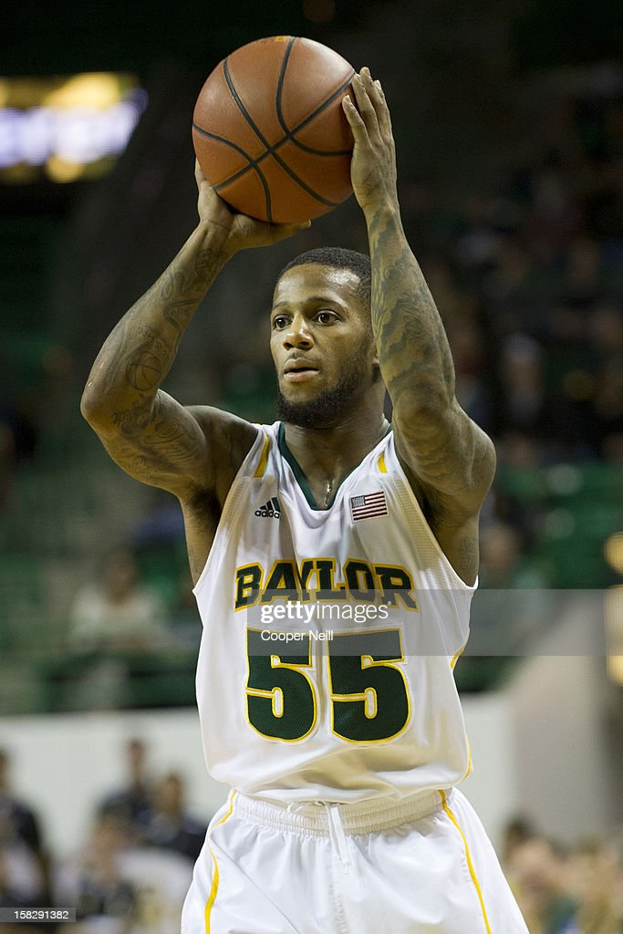 Pierre Jackson #55 of the Baylor University Bears brings the ball up the court against the Lamar Cardinals on December 12, 2012 at the Ferrell Center in Waco, Texas.