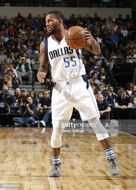 Pierre Jackson of the Dallas Mavericks handles the ball against the Los Angeles Lakers during the game on January 22 2017 at the American Airlines...