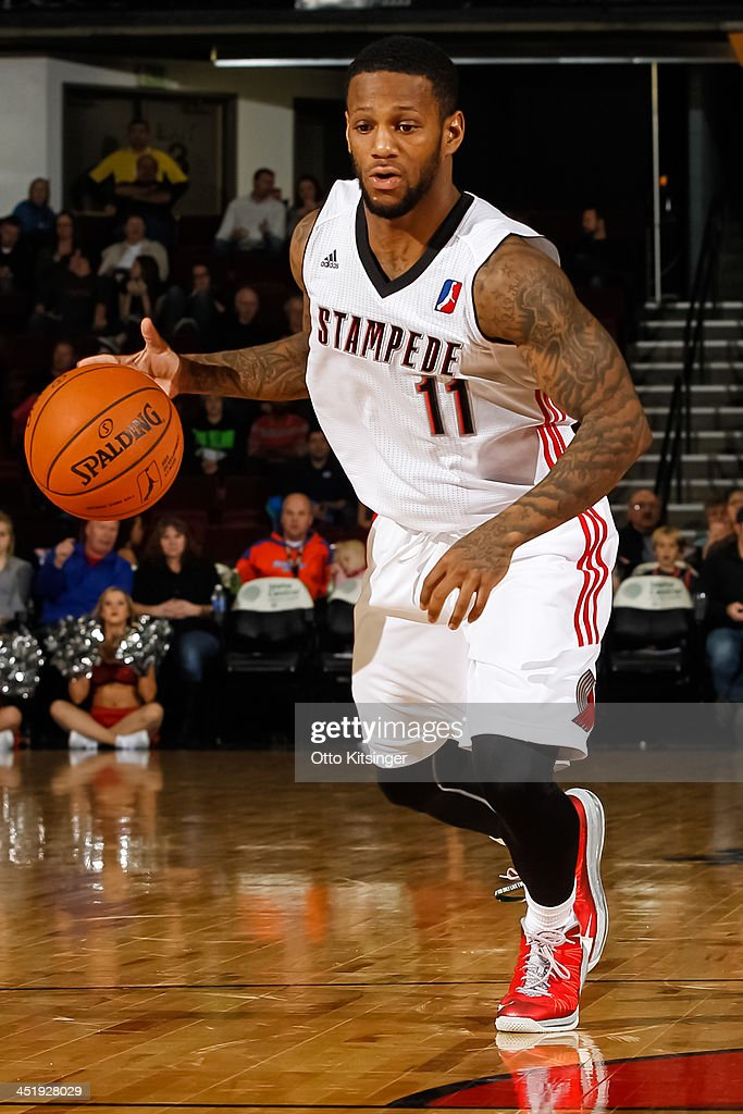 Pierre Jackson #11 of the Idaho Stampede moves the ball against the Bakersfield Jam during an NBA D-League game on November 22, 2013 at CenturyLink Arena in Boise, Idaho.