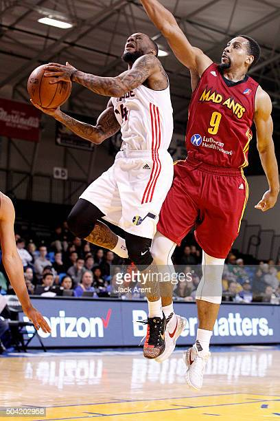 Pierre Jackson of the Idaho Stampede shoots the ball against the Fort Wayne Mad Ants during the 2016 NBA DLeague Showcase presented by SAMSUNG on...