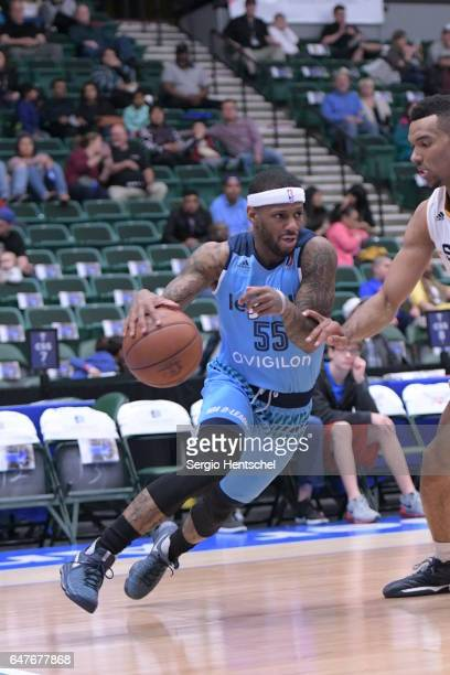 Pierre Jackson of the Texas Legends drives the ball during game against the Salt Lake City Stars at The Dr Pepper Arena on March 3 2017 in Frisco...