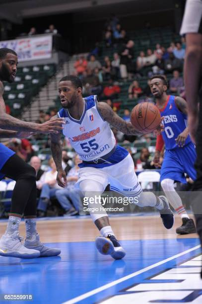 Pierre Jackson of the Texas Legends drives the ball during game against the Delaware 87ers at The Dr Pepper Arena on March 11 2017 in Frisco Texas...