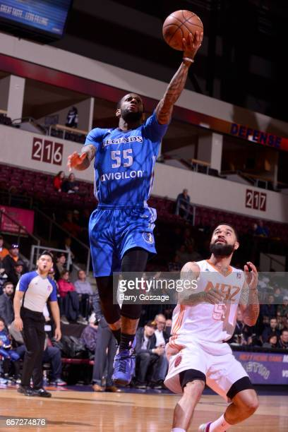 Pierre Jackson of the Texas Legends drives to the basket against the Northern Arizona Suns on March 23 2017 at Prescott Valley Event Center in...