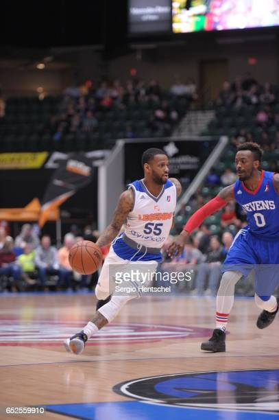 Pierre Jackson of the Texas Legends in action during game against the Delaware 87ers at The Dr Pepper Arena on March 11 2017 in Frisco Texas NOTE TO...