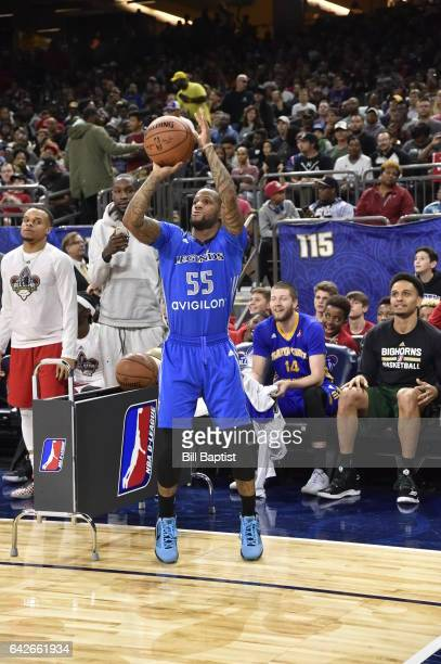 Pierre Jackson of the Texas Legends shoots the ball during the 2017 NBA DLeague ThreePoint Contest as a part of 2017 AllStar Weekend at the...