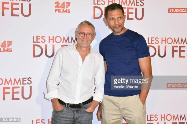 Pierre Jolivet and Roschdy Zem attend the 'Les Hommes du feu' Paris premiere at Cinema Pathe Beaugrenelle on June 23 2017 in Paris France