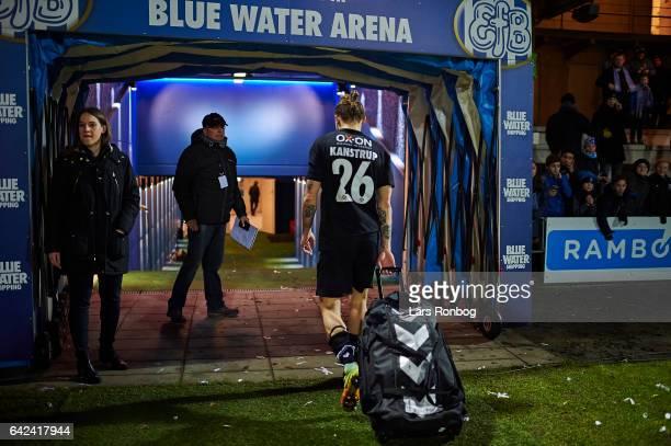 Pierre Kanstrup of Sonderjyske leaving the pitch after the Danish Alka Superliga match between Esbjerg fB and Sonderjyske at Blue Water Arena on...