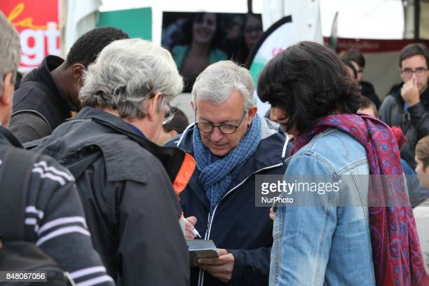 Pierre Laurent head of the French Communist Party during the Festival of Humanity a political event and music festival organised by the French...