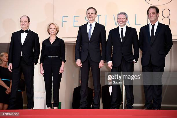 Pierre Lescure Frederique Bredin Christophe Rossignon Stephane Brize and Vincent Lindon attend the Premiere of 'La Loi Du Marche' during the 68th...