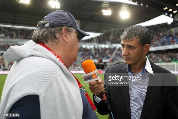 Pierre MENES et commentateur Al Jazeehra Rennes / PSG 2eme journee de Ligue 1