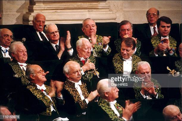 Pierre Messmer at French Academy in Paris France on February 10 2000