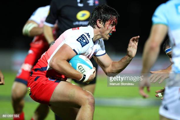 Pierre Mignot of Grenoble during the French Pro D2 match between Aviron Bayonnais and Grenoble on September 21 2017 in Bayonne France