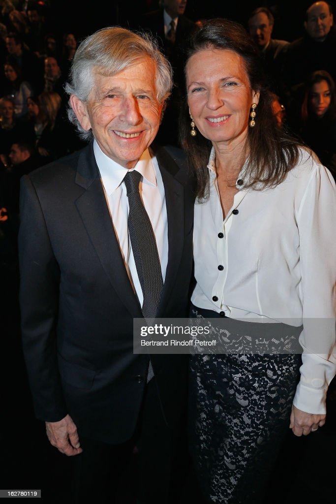 Pierre Milchior, partner, Etam Development, (L) and Rachel Milchior attend the Etam Live Show Lingerie at Bourse du Commerce on February 26, 2013 in Paris, France.
