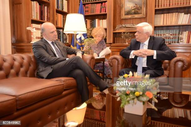 MANSION ATHENS ATTIKI GREECE Pierre Moscovici European Commissioner for Economic and Financial Affairs Taxation and Customs and President of Hellenic...
