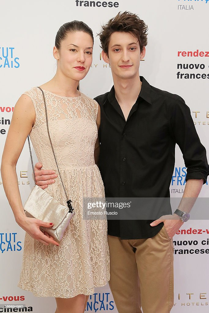 <a gi-track='captionPersonalityLinkClicked' href=/galleries/search?phrase=Pierre+Niney&family=editorial&specificpeople=8306328 ng-click='$event.stopPropagation()'>Pierre Niney</a> (R) and Natasha Andrews attend the Rendez-Vous Film Festival opening night at Hotel Sofitel on April 17, 2013 in Rome, Italy.