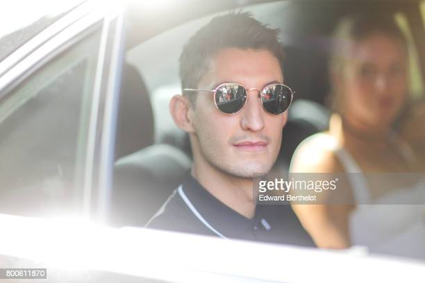 Pierre Niney is seen outside the Dior show during Paris Fashion Week Menswear Spring/Summer 2018 on June 24 2017 in Paris France