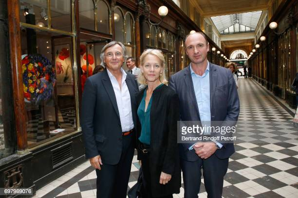 Pierre Passebon Suzanne Isore and CEO Flammarion Gilles Haeri attend Barbara de Nicolay signs her Book 'L'Esprit du Chateau de Lude' with the Eric...