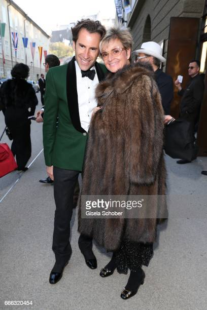 Pierre Pelegry and Gloria von Thurn und Taxis during the opening of the Easter Festival 2017 'Walkuere' opera premiere on April 8 2017 in Salzburg...