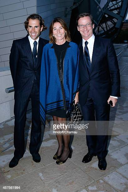 Pierre Pellegri Princess Alessandra Borghese and Taddhaeus Ropac attend the Foundation Louis Vuitton Opening at Foundation Louis Vuitton on October...