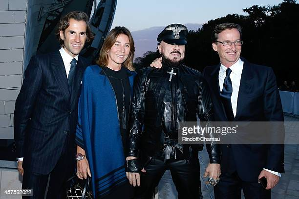 Pierre Pellegri Princess Alessandra Borghese Peter Marino and Taddhaeus Ropac attend the Foundation Louis Vuitton Opening at Foundation Louis Vuitton...