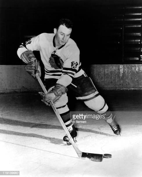 Pierre Pilote of the Chicago Blackhawks poses for a portrait in September 1960 in Chicago Illinois