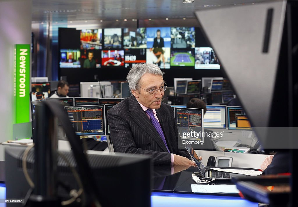 Pierre Pringuet, chief executive officer of Pernod Ricard SA, speaks during a Bloomberg Television interview in London, U.K., on Tuesday, Feb. 19, 2013. Pernod Ricard SA, the maker of Absolut vodka, indicated an interest in acquiring Jose Cuervo after its biggest competitor failed to buy the tequila brand, though downplayed the prospect of any imminent deal. Photographer: Simon Dawson/Bloomberg via Getty Images