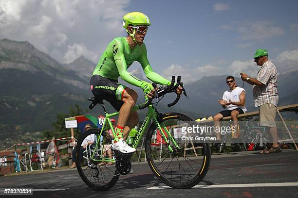 Pierre Rolland of France and CannondaleDrapac Pro Cycling in action during stage eighteen of the 2016 Le Tour de France from Sallanches to Megeve on...