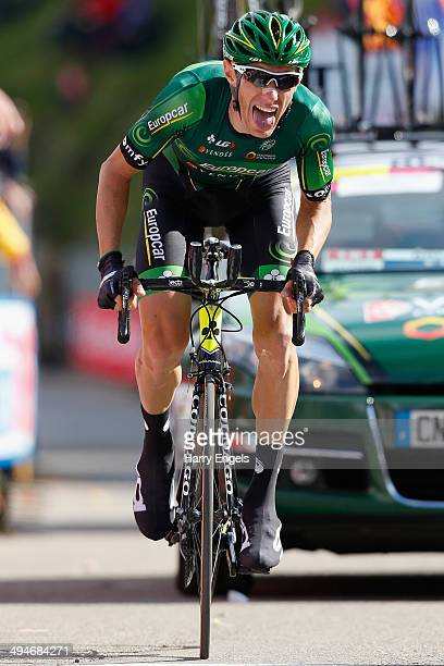 Pierre Rolland of France and team Europcar sprints for the finish line during the nineteenth stage of the 2014 Giro d'Italia a 27km Individual Time...