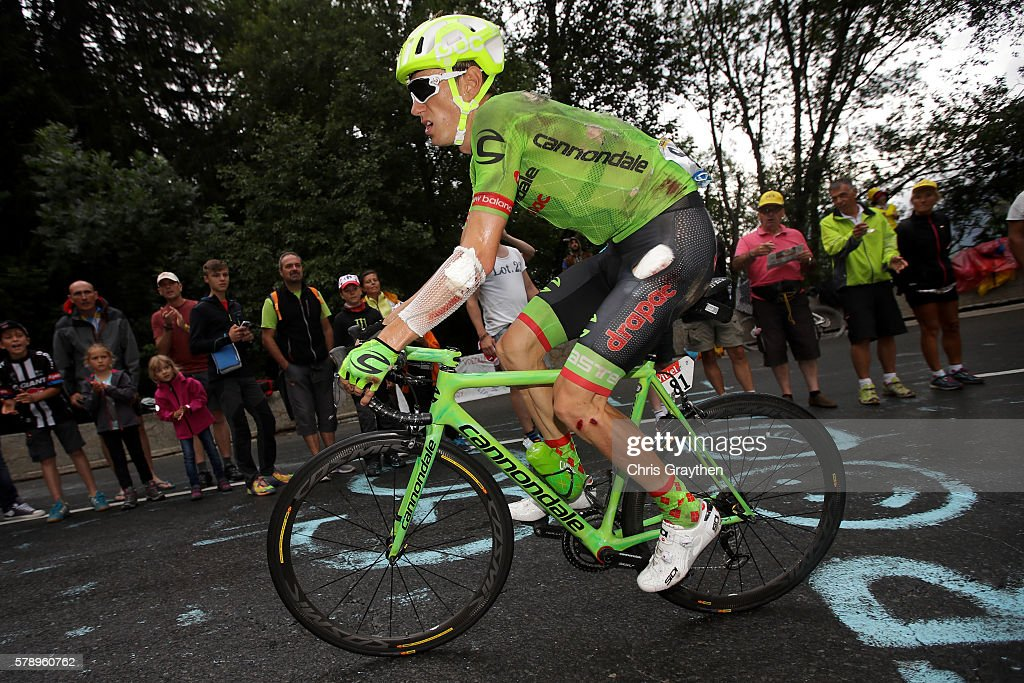 Pierre Rolland of France riding for Cannondale Drapac Team rides during stage ninteen of the 2016 Le Tour de France, a 146km stage from Albertville to Saint Gervais Mont Blanc on July 22, 2016 in Le Bettex, France.