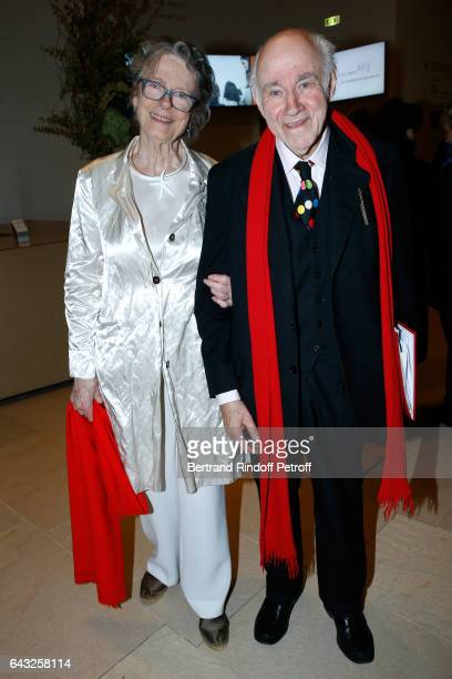 Pierre Rosenberg and his wife Beatrice de Rothschild attend the Private View of 'Icones de l'Art Moderne la Collection Chtchoukine' at Fondation...