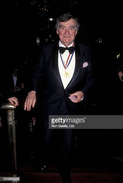 Pierre Salinger during 1992 Ellis Island Medal of Honor at Waldorf Astoria Hotel in New York City New York United States