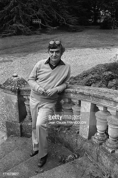 Pierre Salinger in his castle in Touraine France on October 01 1983