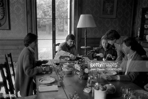 Pierre Salinger with his family in the castle in Touraine France on October 01 1983