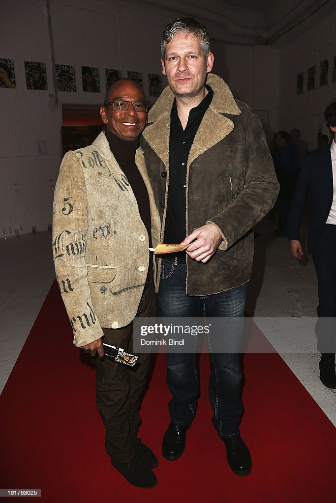 Pierre SanoussiBliss and Till KapostyBliss attend the Teddy Award during the 63rd Berlinale International Film Festival at Station Berlin on February...