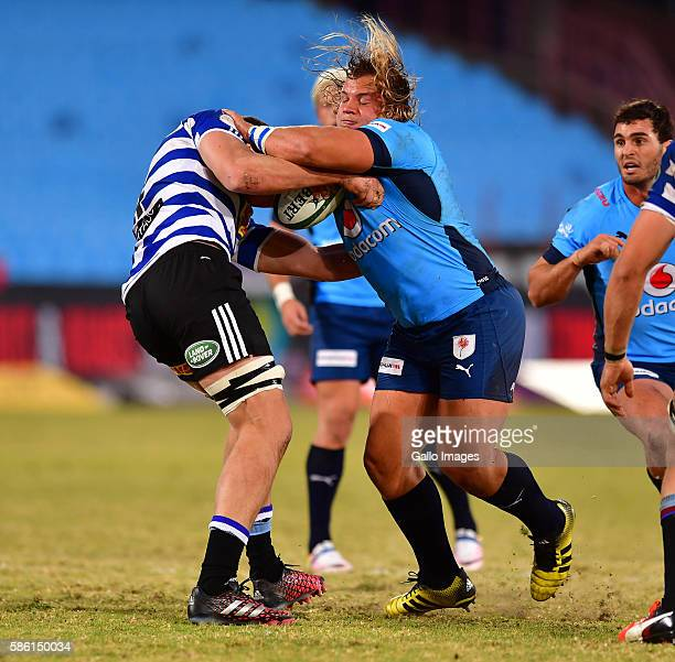 Pierre Schoeman of the Blue Bulls during the Currie Cup match between Vodacom Blue Bulls and DHL Western Province at Loftus Versveld on August 05...
