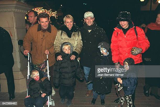 Pierre Sled and Sophie Davant with their children Nicolas and ValentineLaurent Romejko and family