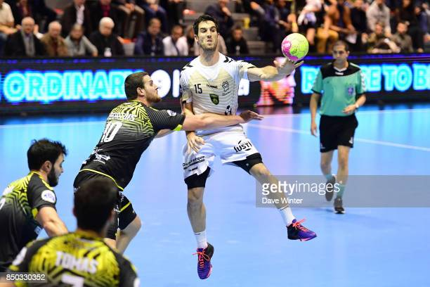 Pierre Soudry of Dunkerque and Jeremie Courtois of Tremblay during Lidl StarLigue match between Tremblay and Dunkerque on September 20 2017 in...