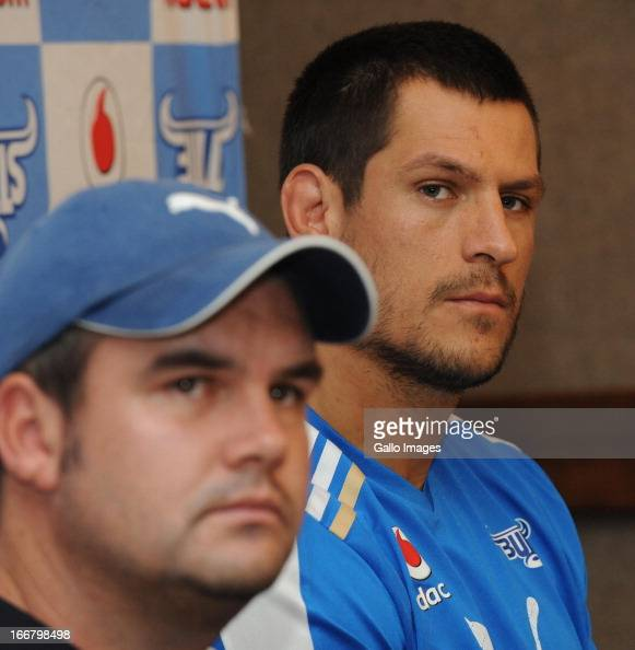 Pierre Spies during the Vodacom Bulls training session and press conference at Loftus Versfeld on April 17 2013 in Pretoria South Africa