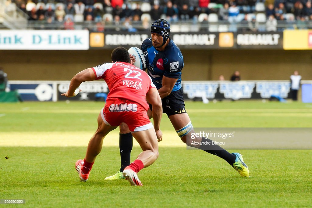 Pierre Spies of Montpellier during the French Top 14 rugby union match between Montpellier v Grenoble on April 30, 2016 in Montpellier, France.