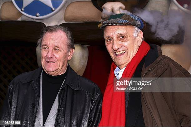 Pierre Tchernia and Uderzo in Paris France on April 03rd 2004