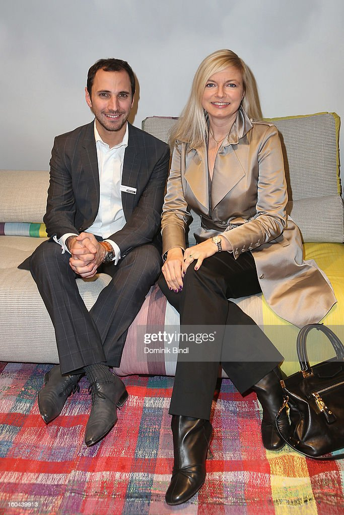 Pierre Tizzani and Michaela Merten attend the opening of the Roche Bobois shop on January 31, 2013 in Munich, Germany.