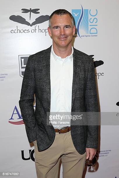 Pierre Turgeon attends the Luc Robitaille Celebrity Shootout at Toyota Sports Center on March 20 2016 in El Segundo California