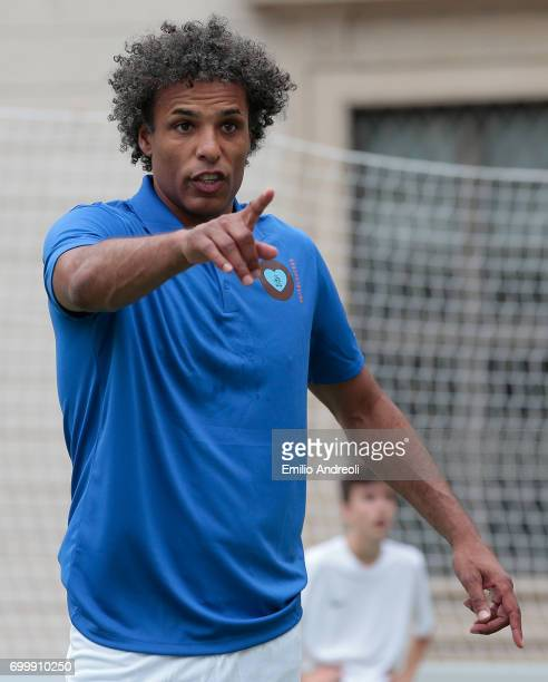 Pierre van Hooijdonk attends a football clinic for integration organized by Italian Football Federation on June 22 2017 in Milan Italy